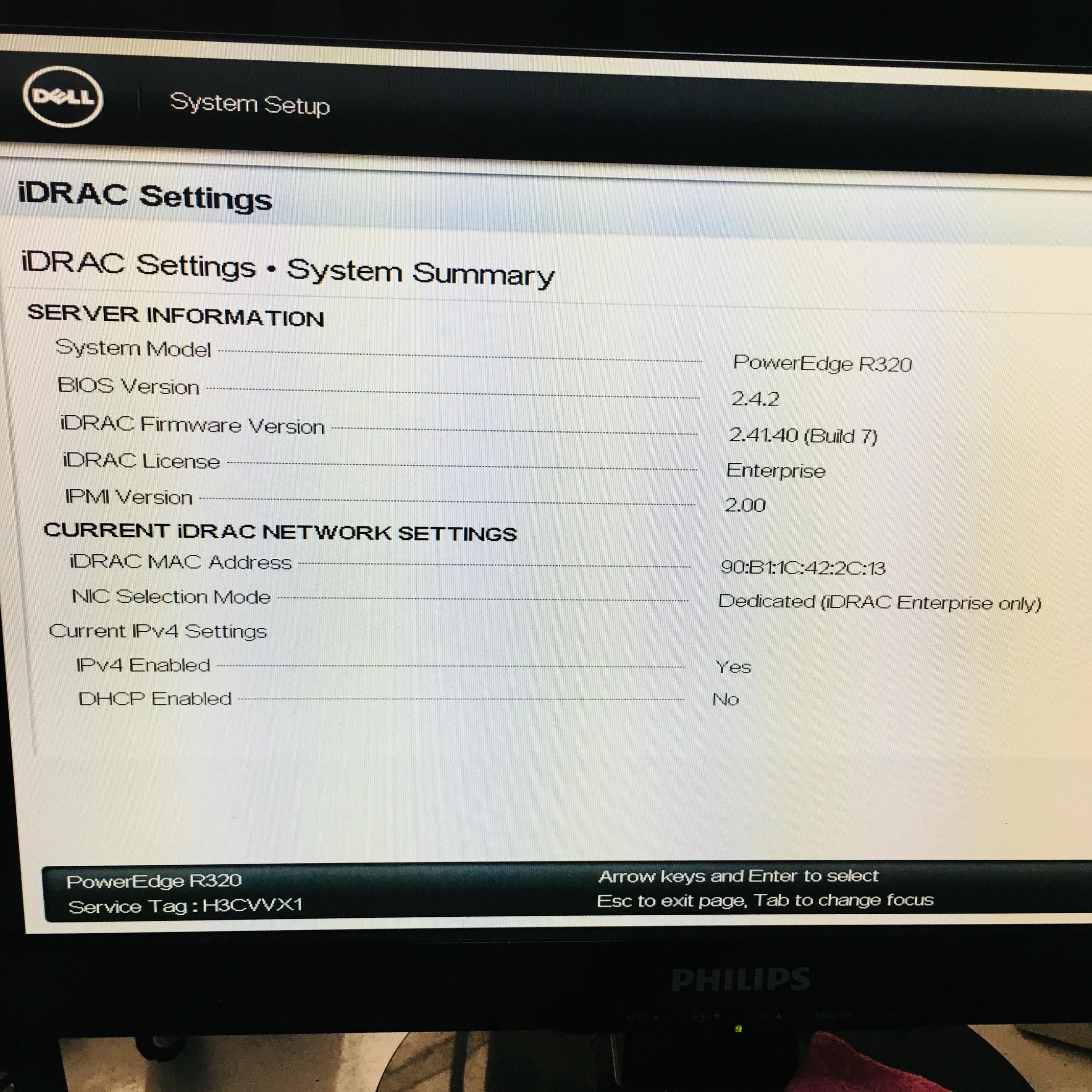 Dell R320 Idrac